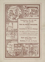 Advert for the Savoy Turkish Baths, reverse side
